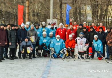 Фоторепортаж с турнира по хоккею, прошедшего в Усть-Пристани